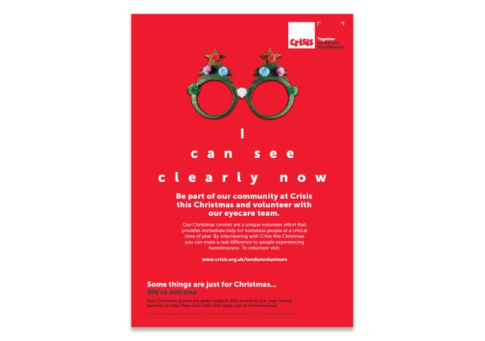 Crisis at Christmas | Opticians Poster